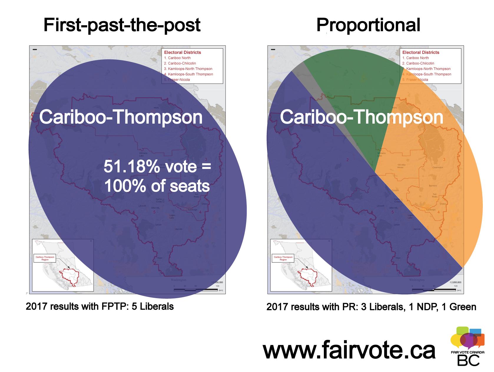 cariboo postcard no bars fair vote canada