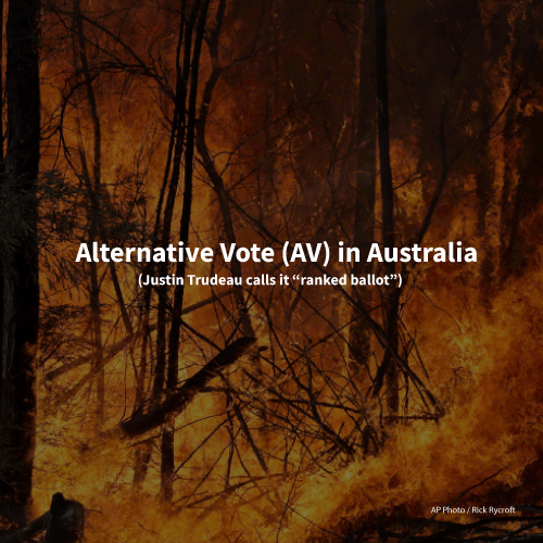 Alternative Vote – from the frying pan into the fire. Lessons from Australia